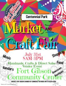 Centennial Park Market and Craft Fair @ Fort Gibson Community Center